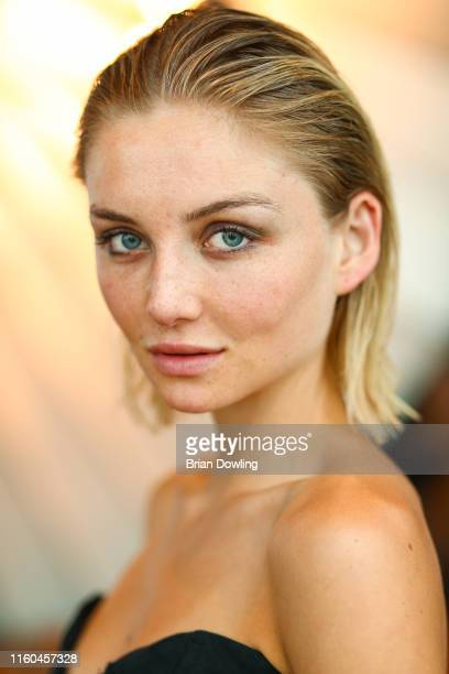 Julia Wulf attends the Paul Ripke Rooftop Event during the Berlin Fashion Week Spring/Summer 2020 at ewerk on July 06 2019 in Berlin Germany