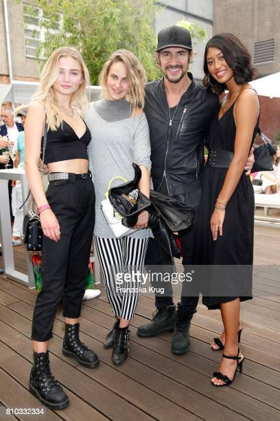 Julia Wulf Elena Carriere Thomas Hayo and Anuthida Ploypetch attend the Gala Fashion Brunch during the MercedesBenz Fashion Week Berlin Spring/Summer...