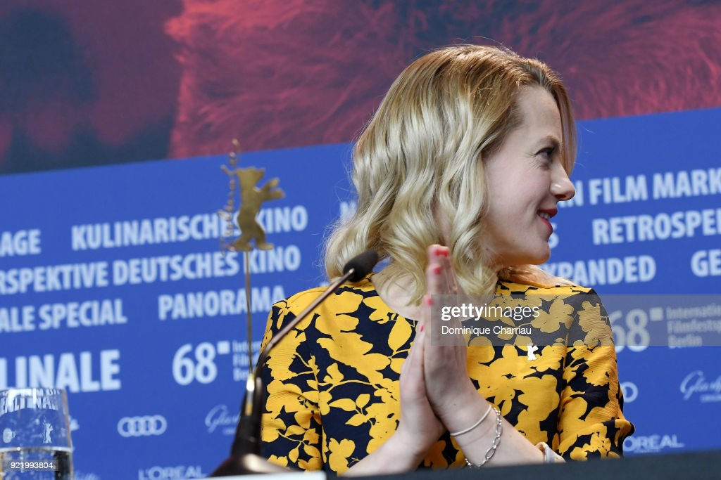 Julia Zange is seen at the 'My Brother's Name is Robert and He is an Idiot' (Mein Bruder heisst Robert und ist ein Idiot) press conference during the 68th Berlinale International Film Festival Berlin at Grand Hyatt Hotel on February 21, 2018 in Berlin, Germany.