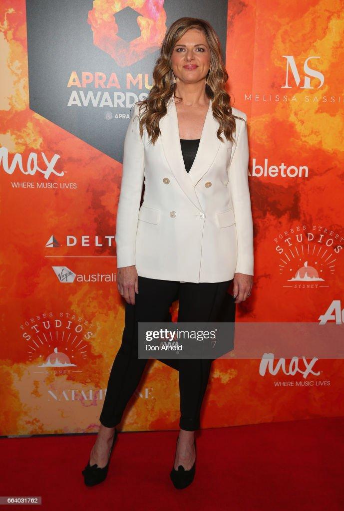 Julia Zemiro arrives ahead of the 2017 APRA Music Awards on April 3, 2017 in Sydney, Australia.