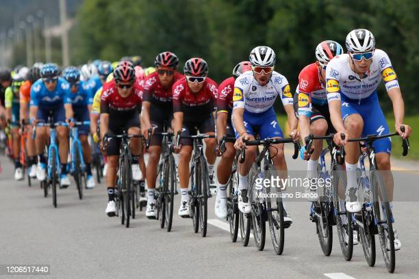 Julian Alaphilippe of France and Team Deceuninck - Quick Step / Jannik Steimle of Germany and Team Deceuninck - Quick Step / Peloton / during the 3rd...