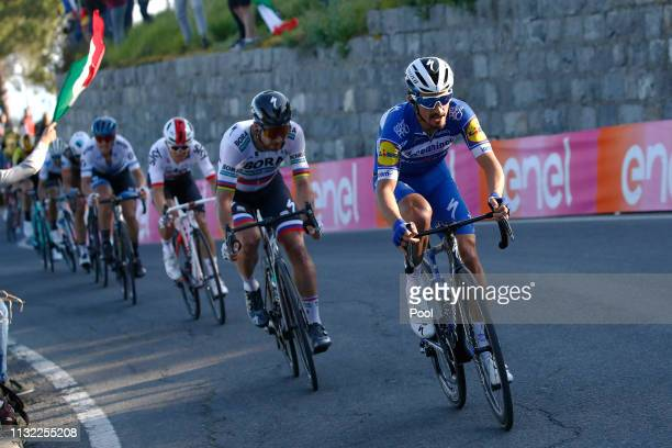 Julian Alaphilippe of France and Team Deceuninck Quick Step / Peter Sagan of Slovakia and Team BoraHansgrohe / 2Michal Kwiatkowski of Poland and Team...