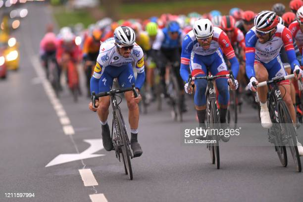 Julian Alaphilippe of France and Team Deceuninck - Quick-Step / Antoine Duchesne of Canada and Team Groupama - FDJ / Thibaut Pinot of France and Team...