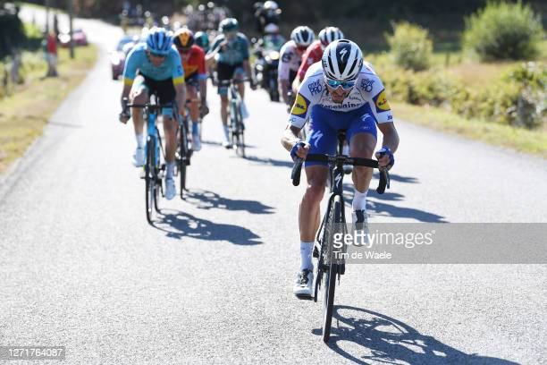 Julian Alaphilippe of France and Team Deceuninck - Quick-Step / during the 107th Tour de France 2020, Stage 12 a 218km stage from Chauvigny to Sarran...
