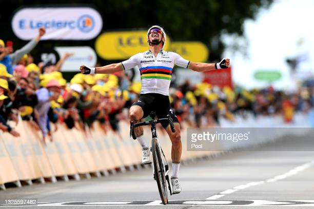 Julian Alaphilippe of France and Team Deceuninck - Quick-Step during the 108th Tour de France 2021, Stage 1 a 197,8km stage from Brest to Landerneau...