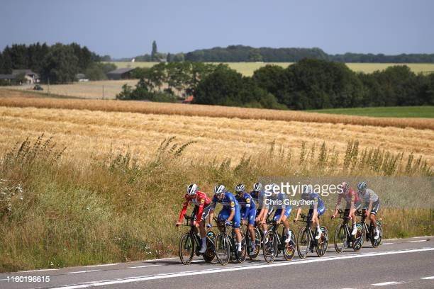 Julian Alaphilippe of France and Team Deceuninck QuickStep / Kasper Asgreen of Denmark and Team Deceuninck QuickStep / Dries Devenyns of Belgium and...