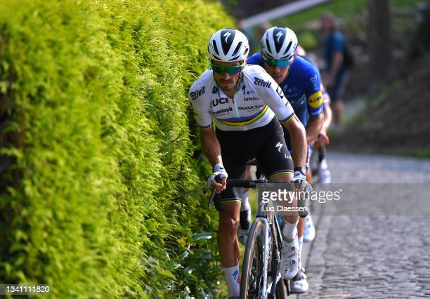 Julian Alaphilippe of France and Team Deceuninck - Quick-Step leads The Breakaway during the 11th Primus Classic 2021 a 197,7km race from Brakel to...