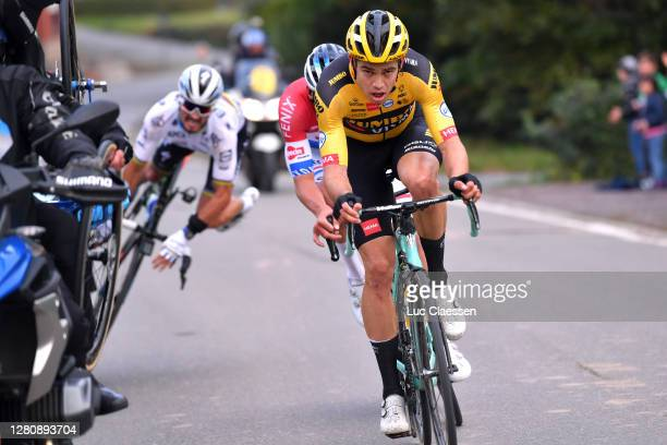 Julian Alaphilippe of France and Team Deceuninck - Quick-Step World Champion Jersey / Wout Van Aert of Belgium and Team Team Jumbo - Visma / Mathieu...