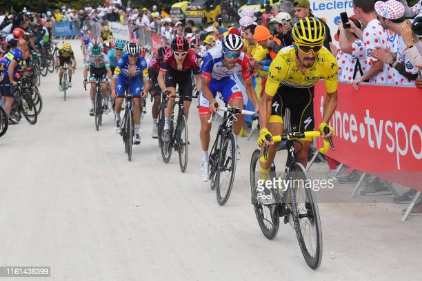 Julian Alaphilippe of France and Team Deceuninck - Quick-Step Yellow Leader Jersey / Thibaut Pinot of France and Team Groupama-FDJ / Geraint Thomas...