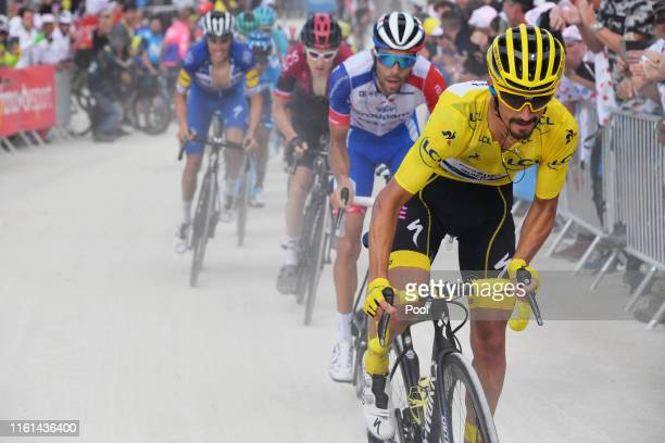 Julian Alaphilippe of France and Team Deceuninck - Quick-Step Yellow Leader Jersey / Thibaut Pinot of France and Team Groupama-FDJ / Planche des...
