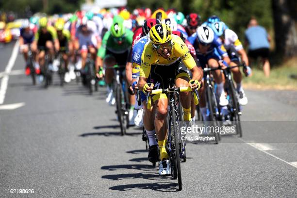 Julian Alaphilippe of France and Team Deceuninck - Quick-Step Yellow Leader Jersey / during the 106th Tour de France 2019, Stage 10 a 217,5km stage...