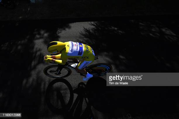 Julian Alaphilippe of France and Team Deceuninck - Quick-Step Yellow Leader Jersey / Shadow / during the 106th Tour de France 2019 - Stage 13 a...