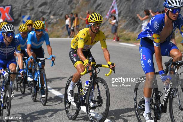 Julian Alaphilippe of France and Team Deceuninck QuickStep Yellow Leader Jersey / during the 106th Tour de France 2019 Stage 19 a 1265km stage from...