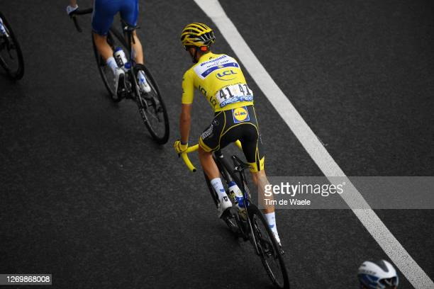 Julian Alaphilippe of France and Team Deceuninck - Quick-Step Yellow Leader Jersey / during the 107th Tour de France 2020, Stage 3 a 198km stage from...