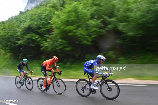 Julian Alaphilippe of France and Team Deceuninck-QuickStep / Alessandro De Marchi of Italy and CCC Team / Gregor Mühlberger of Austria and Team...