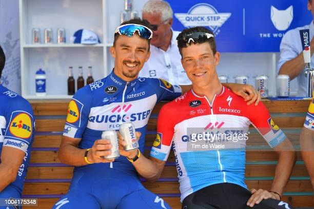 Julian Alaphilippe of France and Team Quick-Step Floors / Bob Jungels of Luxembourg and Team Quick-Step Floors / during the 105th Tour de France 2018...
