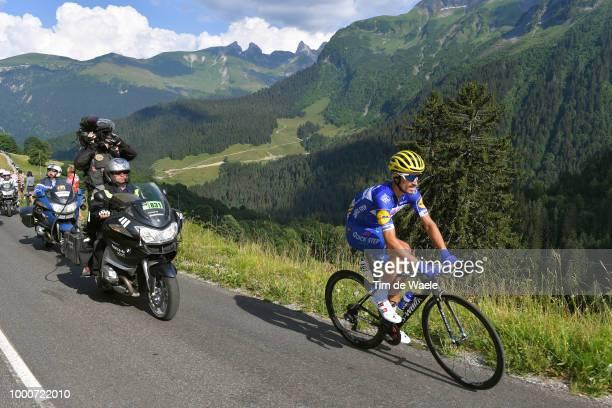 Julian Alaphilippe of France and Team Quick-Step Floors / Col de La Colombière / Landscape / Mountains / during the 105th Tour de France 2018 / Stage...