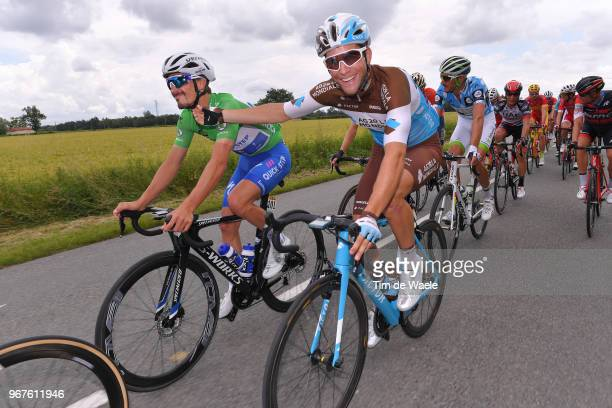 Julian Alaphilippe of France and Team Quick-Step Floors Green Points Jersey / Tony Gallopin of France and Team AG2R La Mondiale / during the 70th...