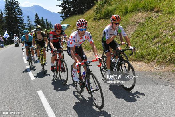 Julian Alaphilippe of France and Team Quick-Step Floors Polka Dot Mountain Jersey / Serge Pauwels of Belgium and Team Dimension Data / Tejay Van...