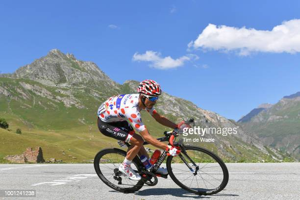 Julian Alaphilippe of France and Team QuickStep Floors Polka Dot Mountains Jersey / during the 105th Tour de France 2018 Stage 11 a 1085km stage from...
