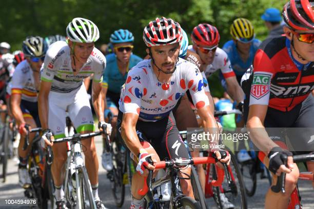Julian Alaphilippe of France and Team QuickStep Floors Polka Dot Mountain Jersey / during the 105th Tour de France 2018 Stage 16 a 218km stage from...