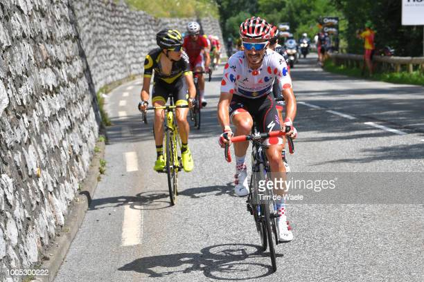 Julian Alaphilippe of France and Team QuickStep Floors Polka Dot Mountain Jersey / during the 105th Tour de France 2018 Stage 17 a 67km stage from...