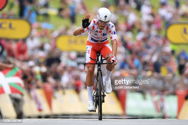 Julian Alaphilippe of France and Team Quick-Step Floors Polka dot Mountain Jersey / during the 105th Tour de France 2018, Stage 20 a 31km Individual...