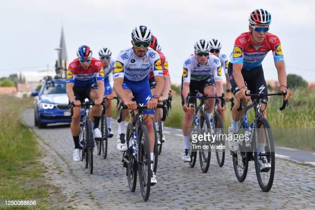 Julian Alaphilippe of France, Bob Jungels of Luxembourg, Sam Bennett of Ireland, Michael Mørkøv of Denmark, Fabio Jakobsen of The Netherlands, Kasper...