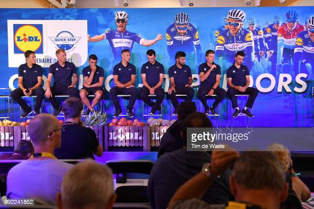 Julian Alaphilippe of France / Tim Declercq of Belgium / Fernando Gaviria of Colombia / Philippe Gilbert of Belgium / Bob Jungels of Luxembourg /...