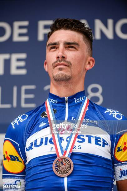 Julian Alaphilippe of Quick Step Floors during the French road championship on July 1 2018 in ManteslaJolie France