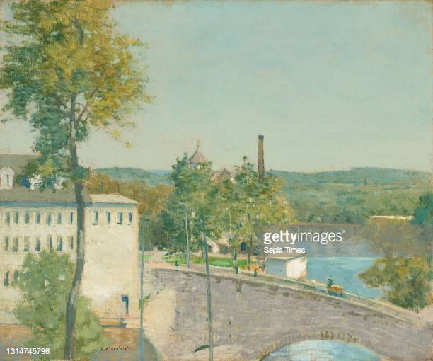 Julian Alden Weir, , American, 1852 - 1919, U.S. Thread Company Mills, Willimantic, Connecticut, c. 1893/1897, oil on canvas, overall: 50.8 x 60.9 cm...