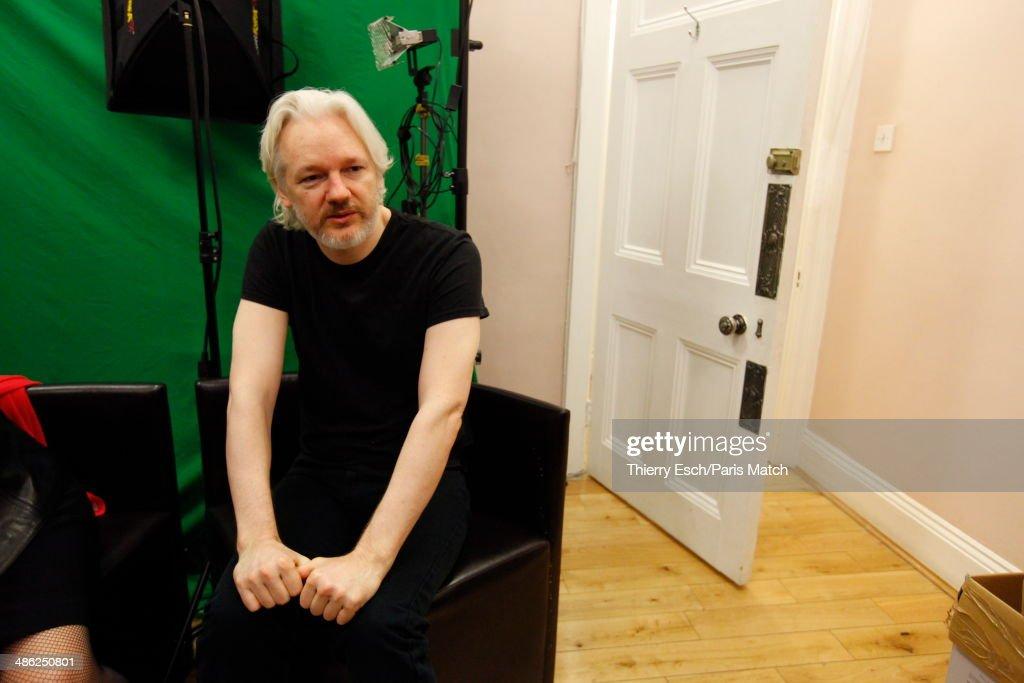 Julian Assange, Paris Match Issue 3387, April 23, 2014