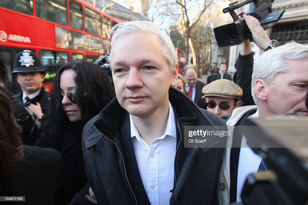 Wikileaks Founder Julian Assange Arrives At Court Seeking To Refer His Case To The Supreme Court : News Photo