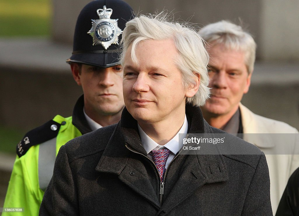 Wikileaks Founder Julian Assange Has His Extradition Case Heard At The Supreme Court : News Photo