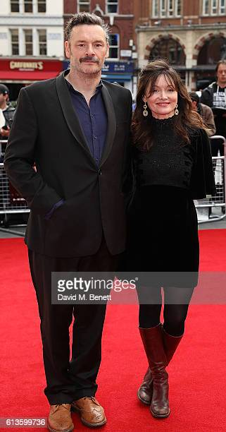 Julian Barratt and Essie Davis attend the 'Mindhorn' World Premiere screening during the 60th BFI London Film Festival at Odeon Leicester Square on...
