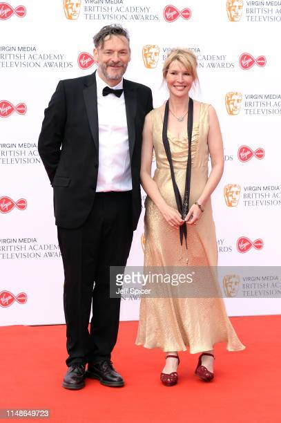 Julian Barratt and Julia Davis attend the Virgin Media British Academy Television Awards 2019 at The Royal Festival Hall on May 12 2019 in London...