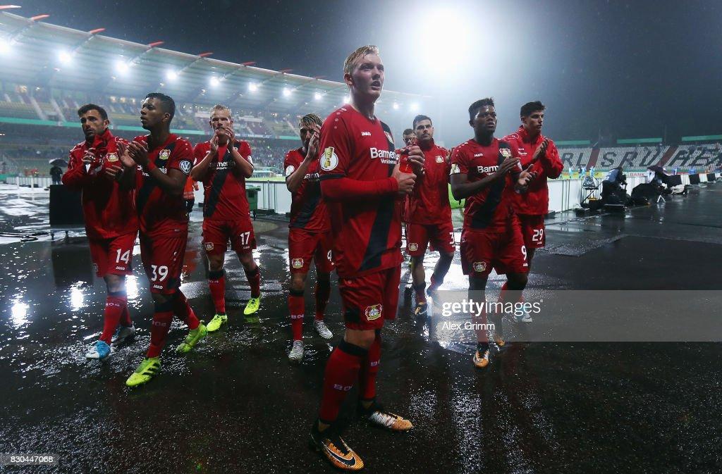 Karlsruher SC v Bayer Leverkusen - DFB Cup