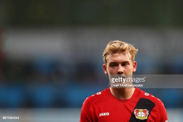 Julian Brandt of Bayer 04 Leverkusen looks on during the Bundesliga match between Bayer 04 Leverkusen and Borussia Dortmund at BayArena on December 2...