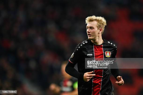 Julian Brandt of Bayer Leverkusen looks on during the UEFA Europa League Group A match between Bayer 04 Leverkusen and FC Zurich at BayArena on...