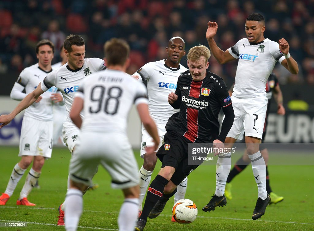 Bayer 04 Leverkusen v FK Krasnodar - UEFA Europa League Round of 32: Second Leg : News Photo
