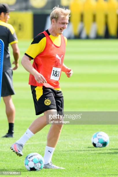 Julian Brandt of Borussia Dortmund controls the ball during the first training session after the summer break on August 03 2020 in Dortmund Germany