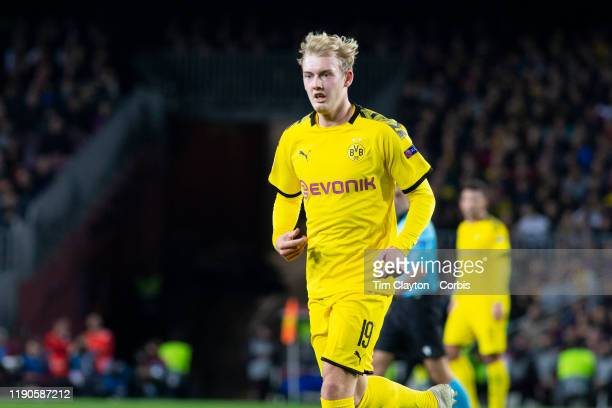November 27: Julian Brandt of Borussia Dortmund during the Barcelona V Borussia Dortmund, UEFA Champions League group stage match at Estadio Camp Nou...