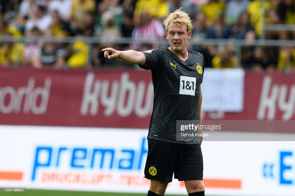 Julian Brandt of Borussia Dortmund gestures during the Pre-Season... News  Photo - Getty Images
