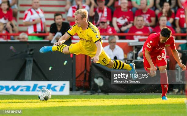 Julian Brandt of Borussia Dortmund in action during the Bundesliga match between 1 FC Union Berlin and Borussia Dortmund at the Stadion An der Alten...
