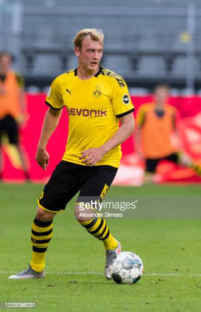 Julian Brandt of Borussia Dortmund in action during the Bundesliga match between Borussia Dortmund and TSG 1899 Hoffenheim at the Signal Iduna Park...
