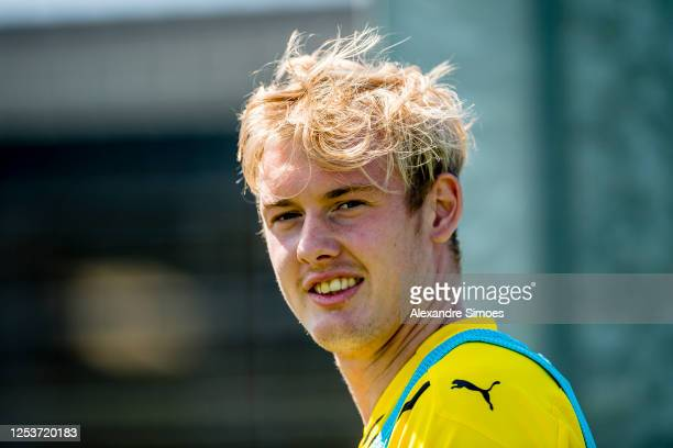 Julian Brandt of Borussia Dortmund looks on during a training session while wearing the new PUMA kit on June 24 2020 in Dortmund Germany