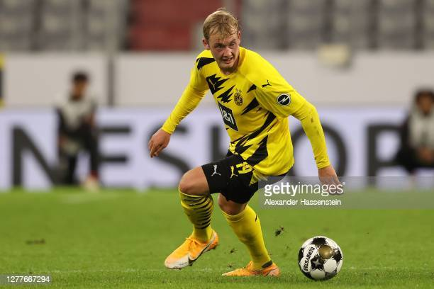 Julian Brandt of Dortmund runs with the ball during the Supercup 2020 match between FC Bayern München and Borussia Dortmund at Allianz Arena on...