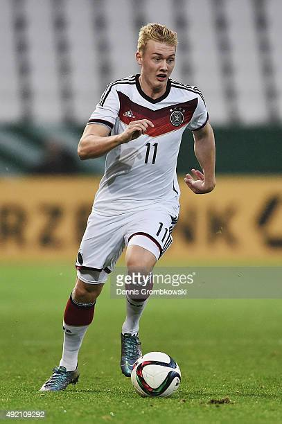 Julian Brandt of Germany controls the ball during the 2017 UEFA European U21 Championships Qualifier between U21 Germany and U21 Finland at Stadium...
