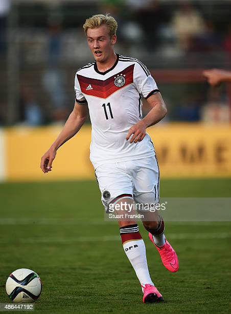 Julian Brandt of Germany in action during the International friendly match between U21 Germany and U21 Denmark at Stadion an der Lohmuehle on...