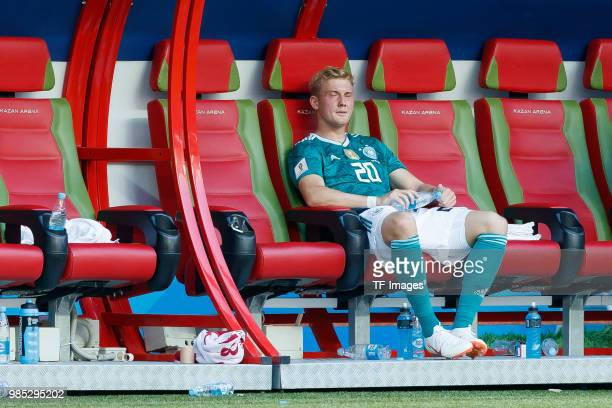 Julian Brandt of Germany looks dejected after the 2018 FIFA World Cup Russia group F match between Korea Republic and Germany at Kazan Arena on June...